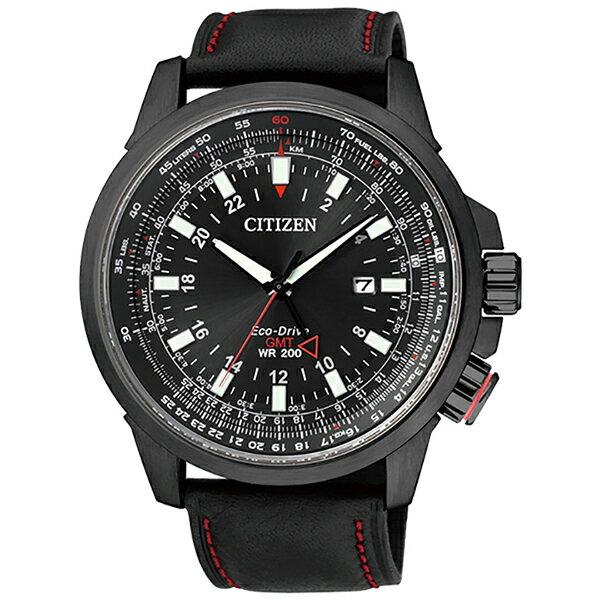 CITIZEN 星辰(BJ7076-00E) PROMASTER GMT 光動能 男錶 黑/45mm