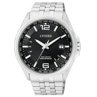 【go錶趣】CITIZEN 星辰(CB0011-77E) 光動能 電波 時尚 男錶 黑/43mm