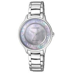 【go錶趣】CITIZEN 星辰(EM0380-65D)光動能女錶 藍/30mm