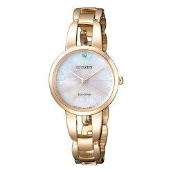 【go錶趣】CITIZEN 星辰(EM0433-87D) 光動能 女錶 玫瑰金色/28mm