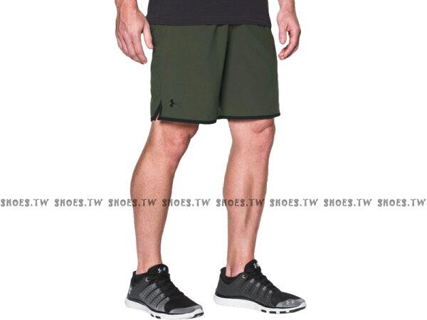 《UA出清69折》Shoestw【1277142-330】UNDERARMOURUA服飾短褲運動褲訓練褲9吋軍綠色男生