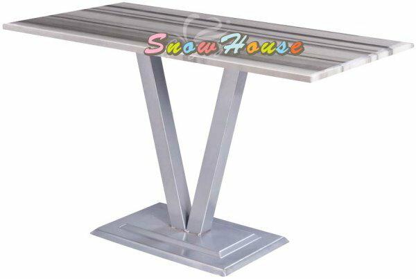 ╭☆雪之屋居家生活館☆╯1017-01/03 722 2公分厚烤銀腳石面餐桌/飯桌