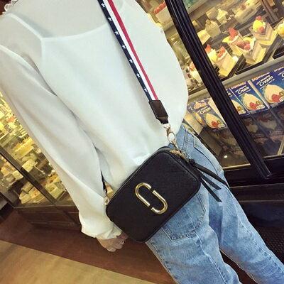 肩背包手拿小方包-雙拉鍊時尚寬肩帶休閒女包包4色73fc442【獨家進口】【米蘭精品】