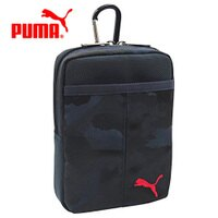 PUMA運動品牌推薦PUMA運動鞋/慢跑鞋/外套推薦到深藍款【日本正版】PUMA 迷彩 收納腰包 收納包 多層收納 旅行收納 - 134401