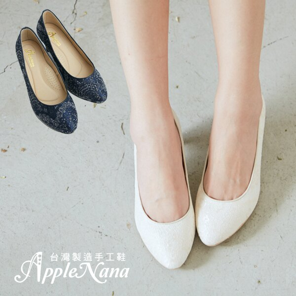 AppleNana蘋果奈奈【QC130381380】夢幻禮堂絕美亮片蕾絲高跟鞋 2