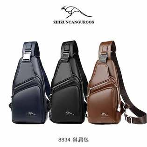 強尼拍賣~ZHIZUNCANGUROOS8834斜肩包包包