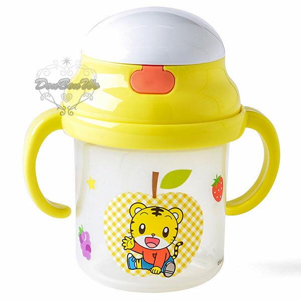 巧虎幼兒學習杯彈蓋式吸管水壺雙握把344497海渡