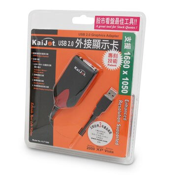 j5create 凱捷 USB 2.0 VGA 外接顯示卡 (KJT1680)