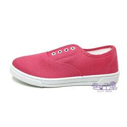 【巷子屋】Wenies PoLo 女款鬆緊帶套入式帆布鞋 [3352] 桃粉 MIT台灣製造 超值價$198