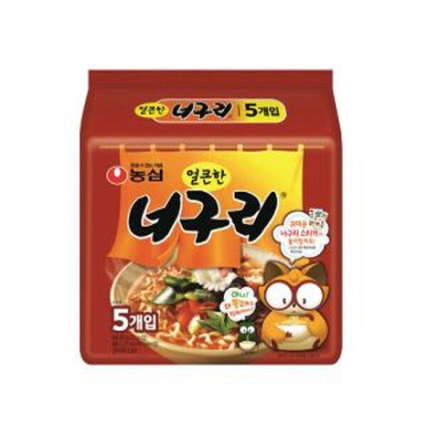 農心浣熊麵-昆布海鮮風味(辣味)120g*5包