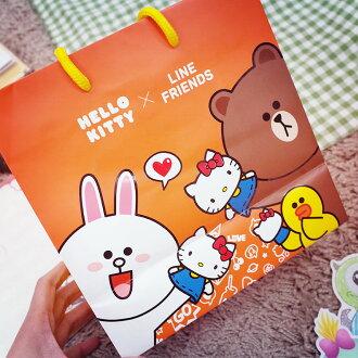 PGS7 三麗鷗系列商品 - Hello Kitty 凱蒂貓 x Line聯名 方型 提紙袋 提袋 禮物袋【SHQ61209】
