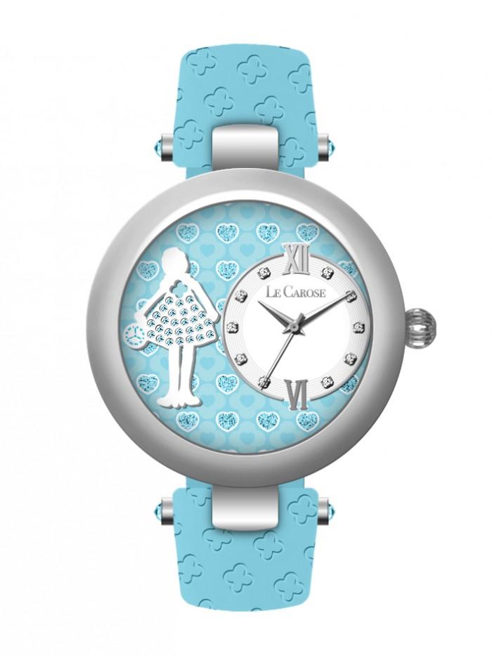 Le Carose Vintage 卡洛絲娃娃腕錶★最愛  #.06A天藍色【歐漾國際】