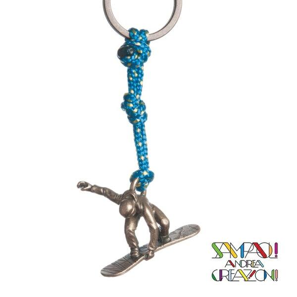 【SAC義大利】青銅掛飾吊飾-滑雪者義大利傳統飾品工藝SAC22