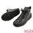 【MOZES】率性綁帶水鑽中跟氣墊中筒靴 3