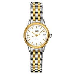 LONGINES 浪琴表 L42743227雙色旗艦典雅經典腕錶/白面26mm