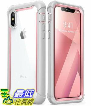 [7美國直購] 手機保護殼 iPhone Xs Case, iPhone X Case, i-Blason [Ares] Full-Body Rugged Clear Bumper Built-in