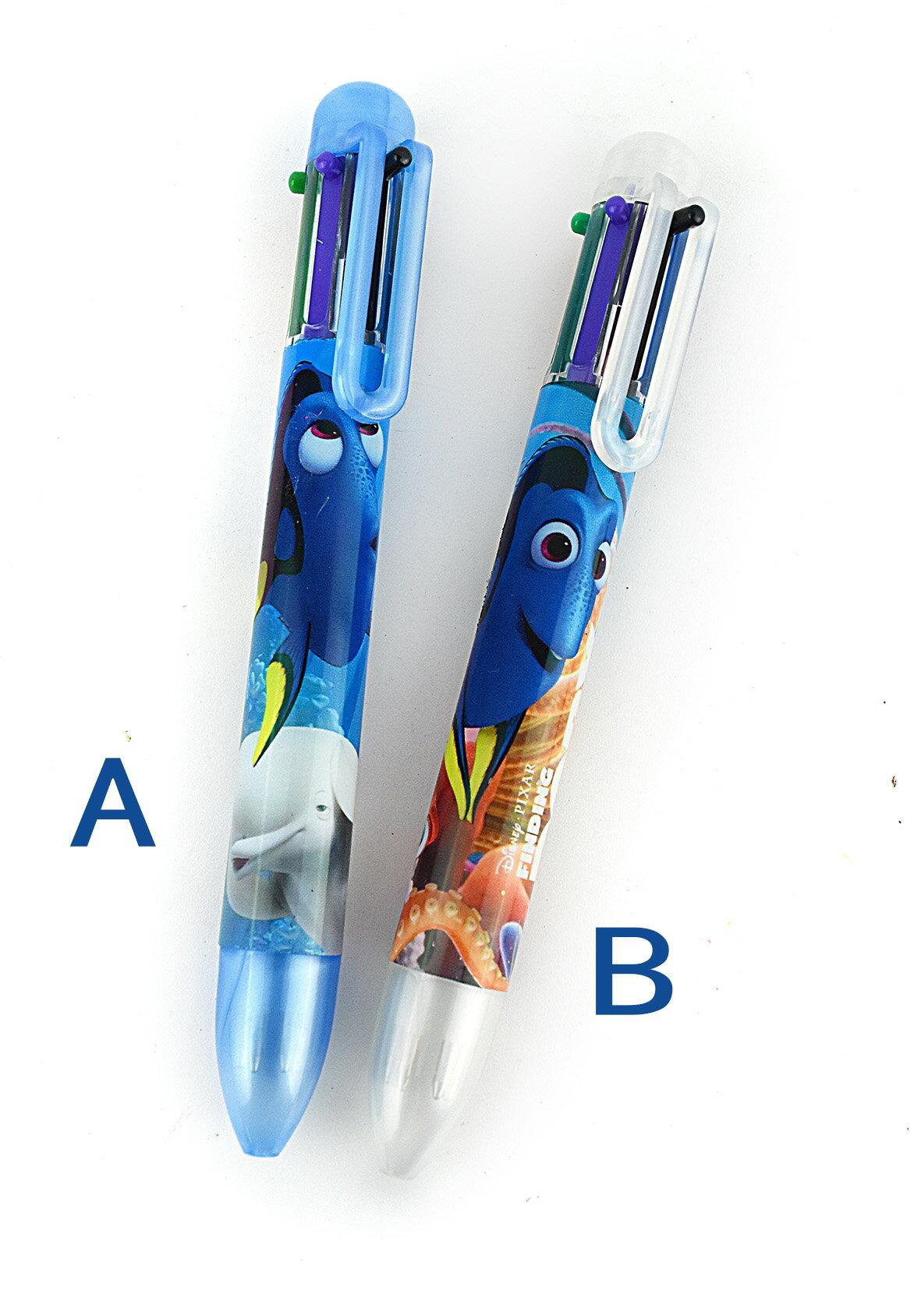 X射線【C449844】海底總動員6色自動原子筆-2款,多色筆/多用筆/油性筆/螢光筆/油漆筆