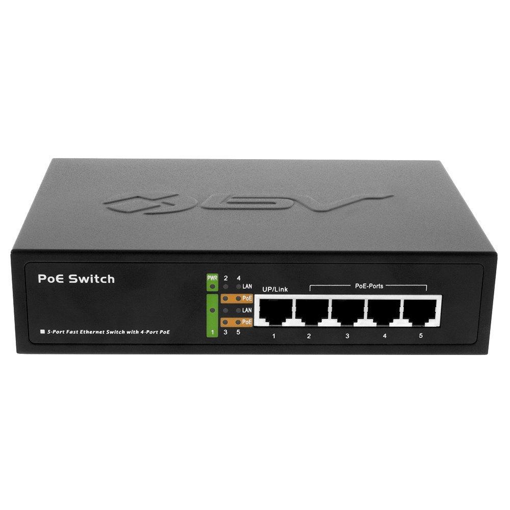 Poe Depot Bv Tech 5 Port Poe Switch 4 Poe Ports 1