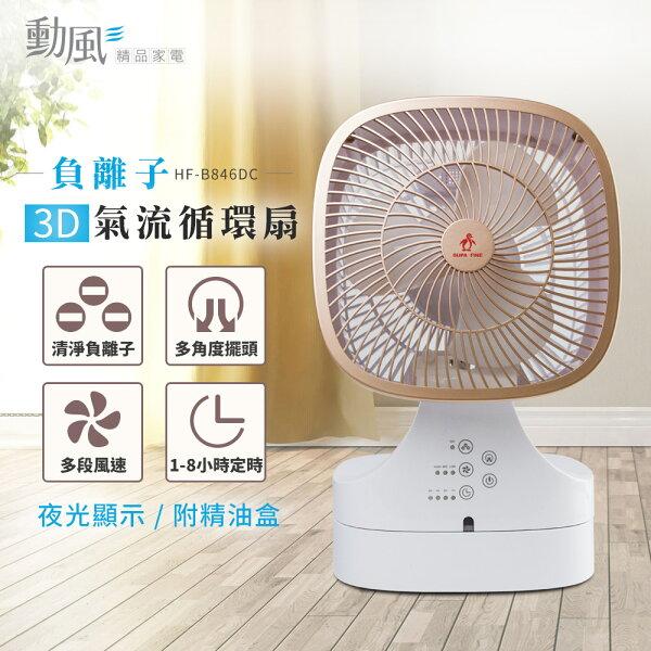 勳風自然風3D氣流負離子DC循環扇創風機HF-B846DC