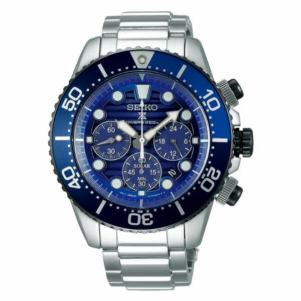 Seiko精工錶V175-0AD0A(SSC675P1)PROSPEX愛海洋太陽能計時時尚潛水腕錶44mm