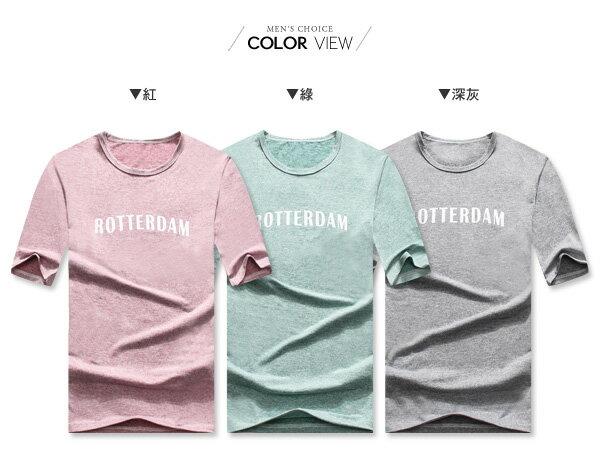 ☆BOY-2☆【OE50203】美式男裝ROTTERDAM五分袖短袖T桖 1