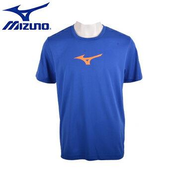32TA650622(法國藍)基本型 RunBird  男短袖T恤 【美津濃MIZUNO】