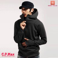 CPMAX 男外套 連帽外套 開衫外套 棉質外套 加絨外套 保暖外套 修身外套 騎車外套 防風外套 型男外套 連帽棉外套 【C05】-CPMAX-潮流男裝