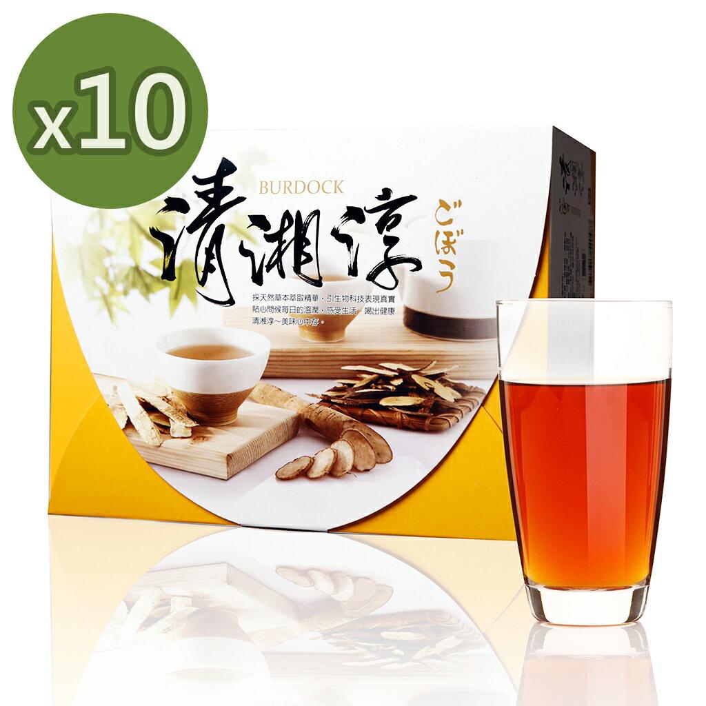 青玉牛蒡茶 清湘淳白鶴靈芝草牛蒡茶包 6g~50包  盒  x10盒