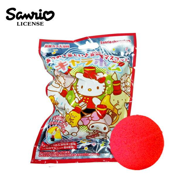 【日本正版】三麗鷗人物 樂隊造型 沐浴球 玫瑰香氛 泡澡劑 入浴球 款式隨機 - 203163