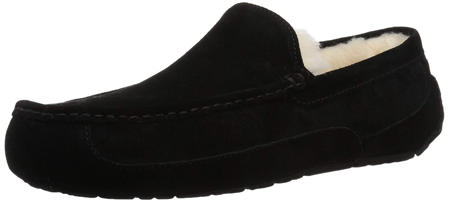20baa4469e5 UGG Australia Mens Ascot Closed Toe Slip On Slippers, Black 2, Size 9.0