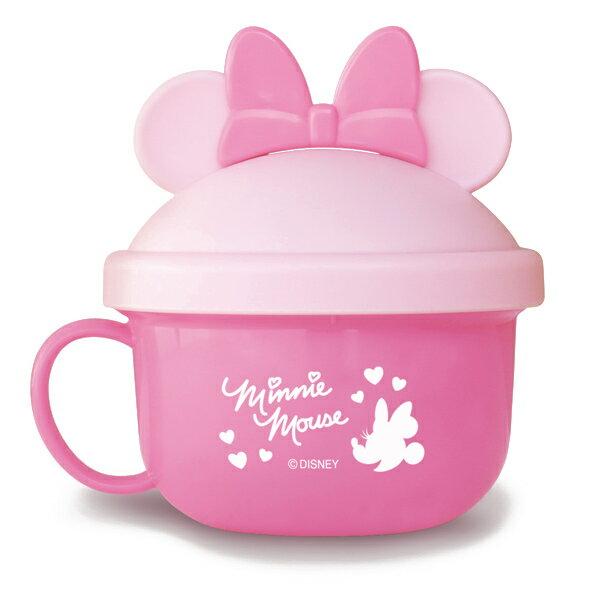 ~衛立兒 館~ 迪士尼 Disney 米妮外出副食品餵食碗^(附湯匙^)^~粉色 ~  好