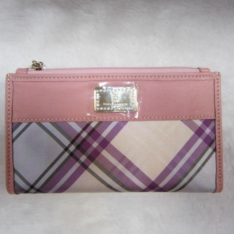 ^~雪黛屋^~Kinloch Anderson英國 金安德森 粉紫格紋系列專利防水緹花布