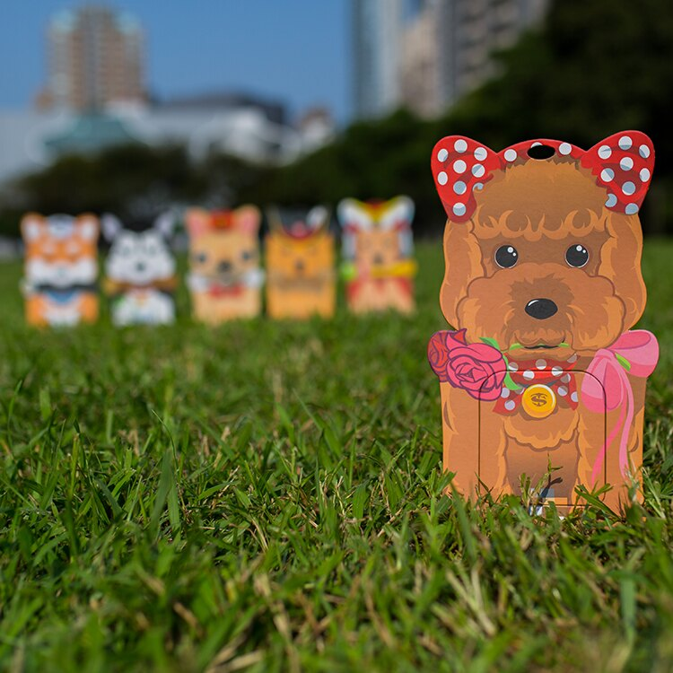 L號玫瑰貴賓/備用接便器紙卡一張/便孔大、不漏接、易裝拆、免手拿/適合大型狗