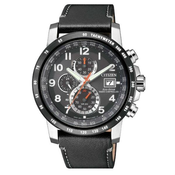 CITIZEN星辰錶AT8124-08H高科技品味電波光動能腕錶黑43mm