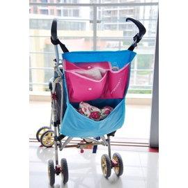 *彩色童話*嬰兒車必備為推車設計的置物包 手推車/傘車掛袋