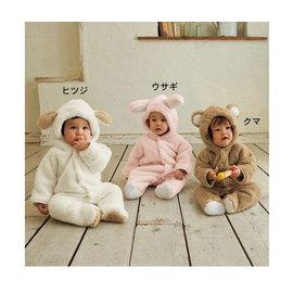 *彩色童話*貴妃絨 動物造型哈衣/爬服/3層夾棉連身衣/ 連體衣/嬰兒包腳哈衣
