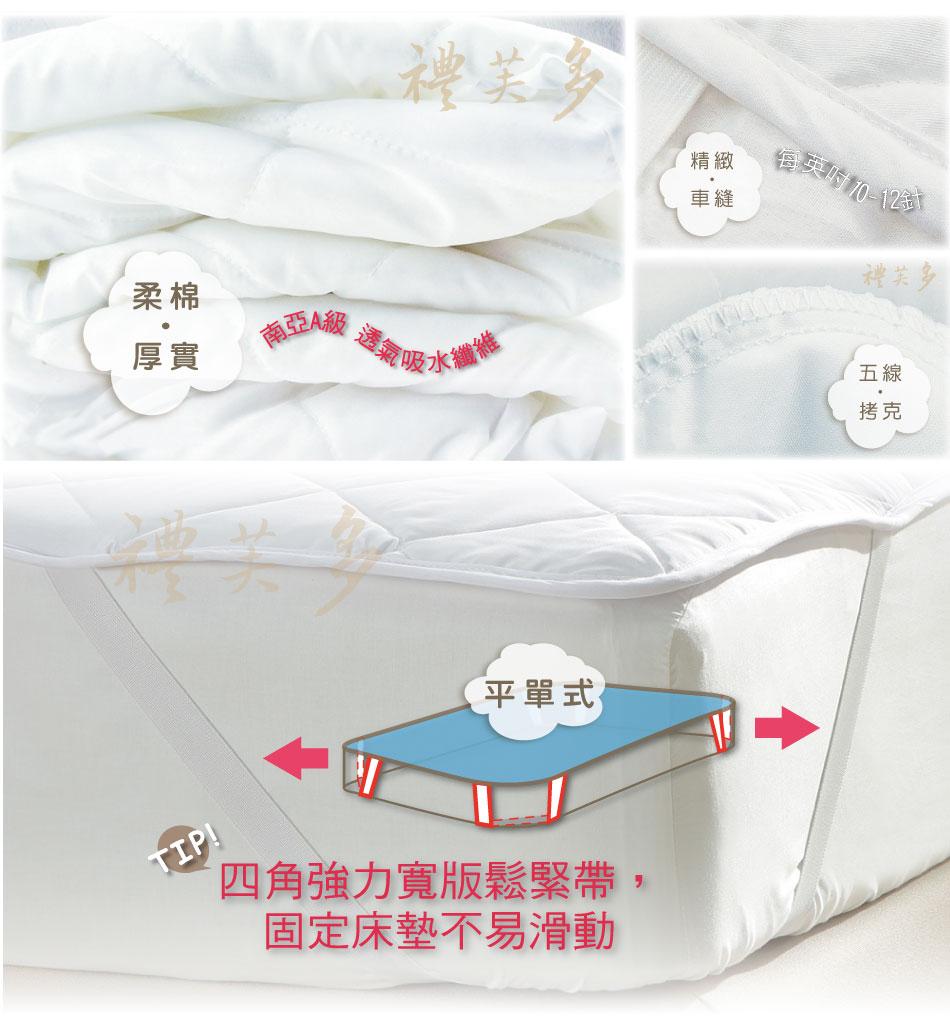 ~Honey Home x 禮芙多~單人防水保潔塾^(3.5尺^~6.2尺^) ~ 防潑抗