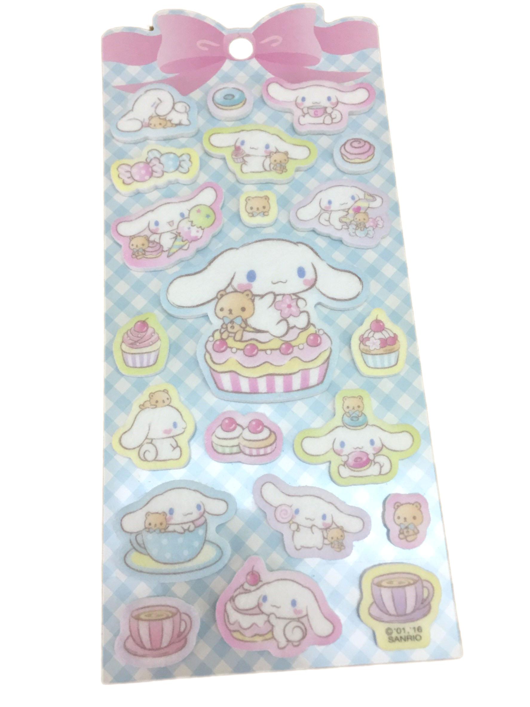【真愛日本】16071300040造型泡棉貼紙-CN與熊吃點心   三麗鷗家 喜拿狗 大耳狗   文具用品  裝飾貼紙