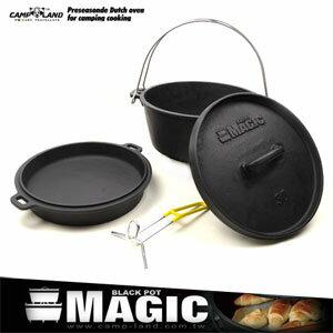 【MAGIC】頂級萬能美式荷蘭鍋組(12吋) 二合一鑄鐵鍋.雙耳平底鍋.煎烤鍋炒鍋.油炸鍋.露營戶外用品.推薦P086-IRON555