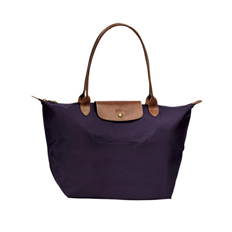 Longchamp   2605 098 556 新款女性包時尚潮流可折疊水餃包中號長柄餃子包 4