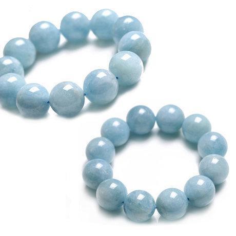 海藍寶手鏈 水晶手鏈 大顆粒寶石 百搭
