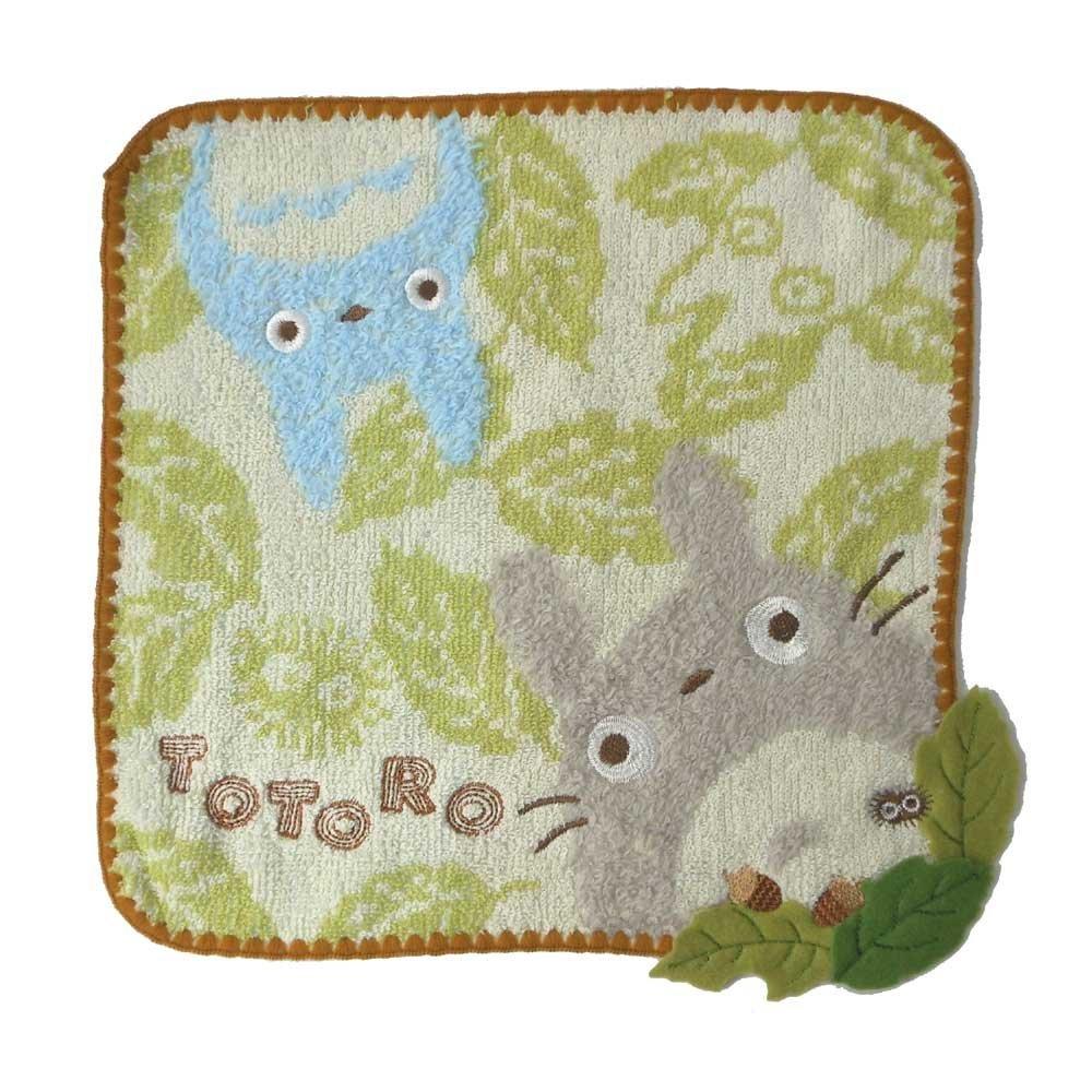 【真愛日本】12100500074   純棉小方巾-三色毛邊橡葉   龍貓 TOTORO豆豆龍 小毛巾 手帕 日本貨