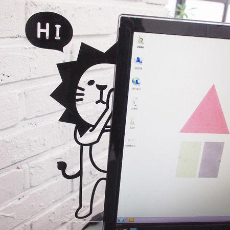 韓版可愛動物躲貓貓螢幕留言版 電腦側邊貼 多用途備忘錄 便利貼 便條貼 N次貼 辦公室收納【N200286】