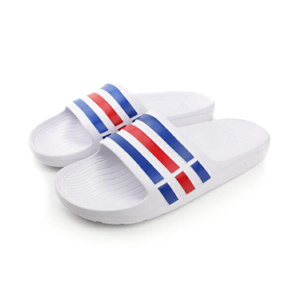 adidas 拖鞋 白色 男女鞋 no431