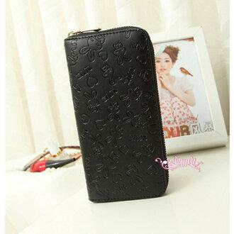 長夾 彩繪圖案大容量拉鍊皮夾 手機錢包 共9款(A828系列)/寶來小舖(現貨販售)