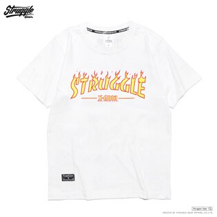 【StruggleGear】火焰LOGO T「白色」FLAME STRUGGLE TEE 81625
