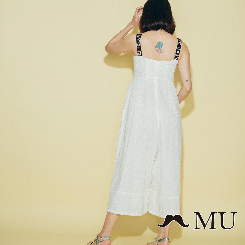 【MU】超美織帶連身寬褲洋裝 8327163 4