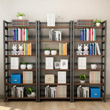 簡易小書架家用經濟型收納架置物架簡約鐵藝多層落地兒童學生書櫃