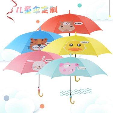 【免運】兒童雨傘定制印LOGO廣告傘幼兒園卡通印字長柄晴雨傘圖片定做圖案 酷男精品館  喜迎新春 全館8.5折起
