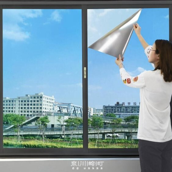 隔熱膜窗戶防曬單向透視防窺陽臺遮光遮陽玻璃貼膜家用玻璃紙貼紙 快速出貨